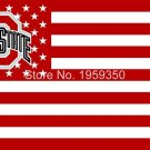 Ohio State Buckeyes With Modified US Flag 3ft x 5ft Polyester