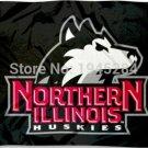 Northern Illinois University Huskies Black Flag Banner 002 New 3x5FT