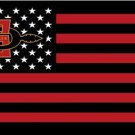 San Diego State Aztecs flag with us stars stripes 3ftx5ft Banner 100D Polyester