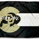 Colorado Buffaloes State of Colorado Flag 150X90CM Banner 100D Polyester