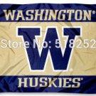 Washington Huskies Flag 3x5 FT 150X90CM  Banner 100D Polyester