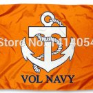 Tennessee Volunteers Vol Navy Flag 3X5FT Banner 100D Polyester
