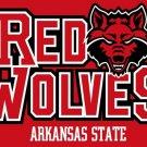 Arkansas State Red Wolves flag 3ftx5ft Banner 100D Polyester Flag 2 metal Grommets