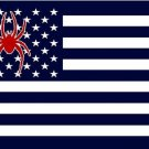 3ftx5ft US Stripes Richmond Spiders flag  Banner 100D Polyester