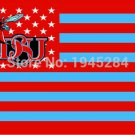 Delaware State Hornets with US Stars Stripes Flag Banner New 3x5FT