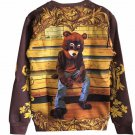 Kanye West Mens Sweatshirts Dropout Bear Album Cover Pattern Print Hoodies