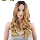 26 inch Blonde Ombre Synthetic Wig HAIR Long Wavy Natural Hair