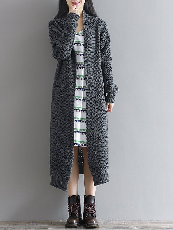 Knitted Long Duster Cardigan