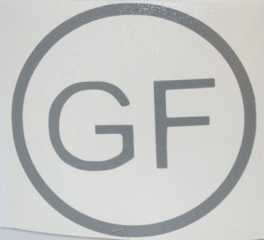 """GF"" God First vinyl decal - Available in all sizes / colors!    Religion / Church"