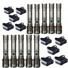 10PC 3000LM LED Tactical Flashlight T6 Cree Rechargeable Torch+Battery+Charge
