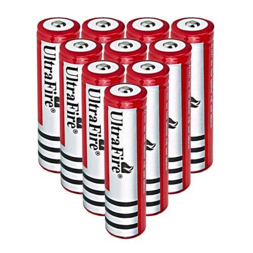 10PC Ultrafire 4000mAh Rechargeable 18650 Battery Li-ion 3.7V 18650 Battery