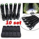 10PC X800 Tactical Flashlight LED Military Lumens Alonefire ShadowHawk Set
