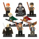Lego Compatible Harry Potter minifigures set, Hermione, Ron, Draco, Snape, Lord Voldemort