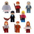 Harry Potter set of 8 minifigures Lego compatible, Dumbledore, Death Eater, Hermione, Ron