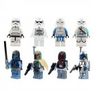 Lego Compatible Minifigures Star Wars Jedi Bounty Hunter Jango Fett Trooper