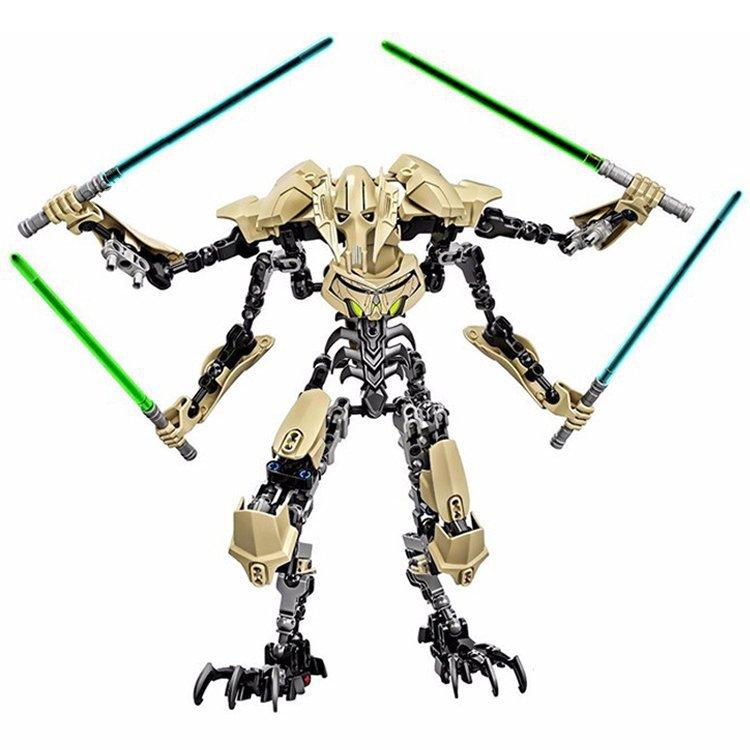 Star Wars General Grievous Jedi Warrior Lego Compatible Toy