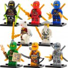 Custom Bricks Built Ninjago minifigures, Lloyd , Kai, Jay, Cole, Zane