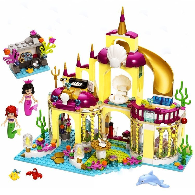 Mermaid Princess Underwater Lego Palace Castle Compatible Doll House
