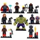 Super Hero Marvel Avenger Hulk Ironman Lego Super Heroes Minifigures Compatible