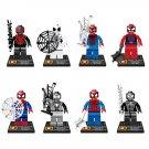 Marvel Hero Spiderman Peter Parker Venom Minifigure Lego Spiderman Movie Compatible