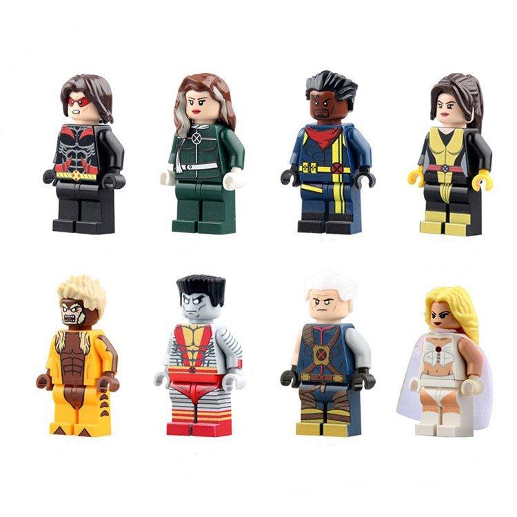 Super Hero X-men Shadowcat Queen Rogue Colossus Minifigure Lego Compatible