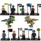 Jurassic Park World Studio Raptor Dinosaur Minifigure Lego Jurassic Figures Compatible Toy