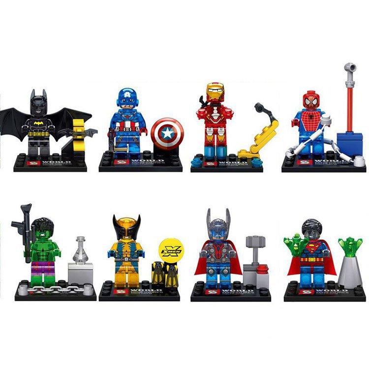 Super Hero Figure Avengers Hulk Thor Batman Minifigure Lego Sets Compatible Minifigures