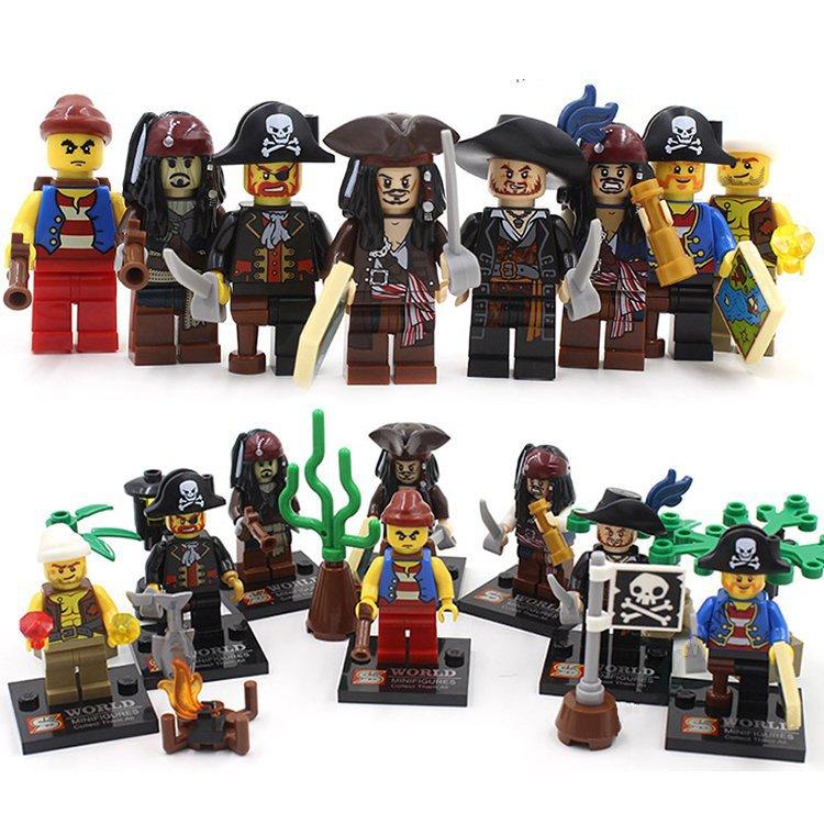 Super Hero Pirates Caribbean Jack Sparrow Minifigure Lego Sets Compatible Toys