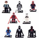 Super Hero Marvel Spiderman Peter Parker Minifigure Lego Spiderman Compatible Minfiguers