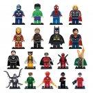 DC Justice League SDCC Lego minifigures Compatible Batman The Flash Spiderman