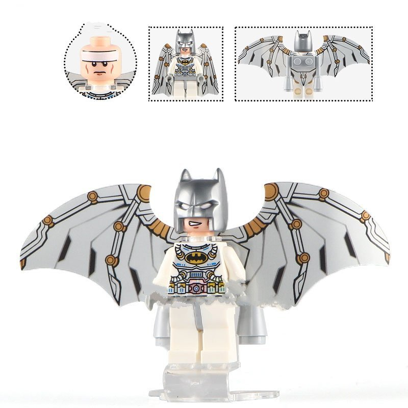 Silver Batman with Wings Lego DC Superhero Minifigure Compatible