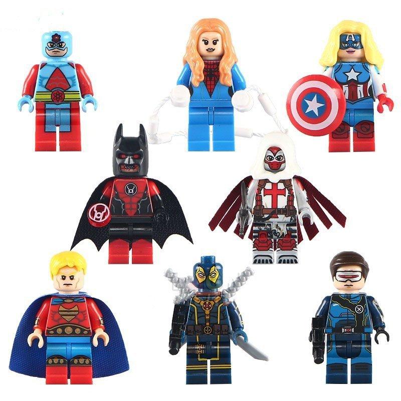 Marvel Minifigures Deadpool Batman Spider woman Avangers Lego Compatible toys