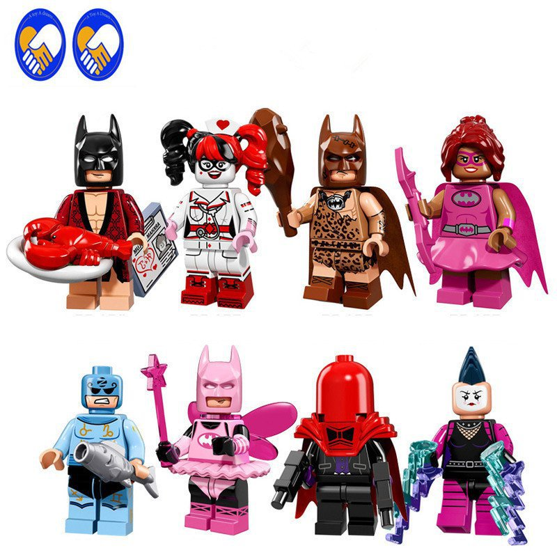 Batman Joker Harley Quinn Barbara Catwoman Red Mask Nurse Compatible Lego DC Minifigures