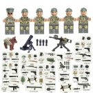 WW2 North Africa War Battle US Soldiers Comaptible Lego Military Troopers