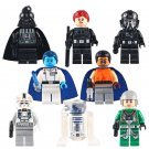 Star Wars Darth Vader R2D2 TIE Fighter Pilot Lego Star Wars Minifigures Compatible