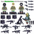 WW2  Russian Army Minifigures Compatible Lego Russian Soldiers