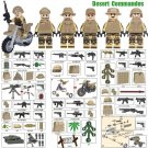 Desert US Troopers Soldiers Minifigures Compatible Lego WW2 Soldiers
