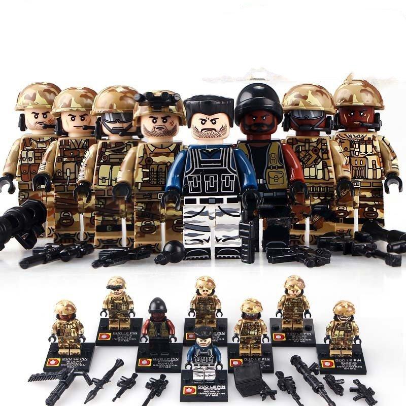 Assault Commander SWAT minifigure Lego Military Minifigures Compatible Toy
