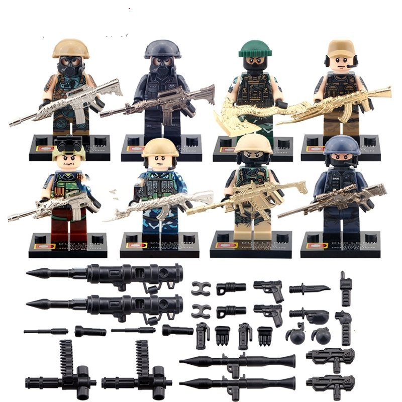Army Special Troopers Minifigures Compatible Lego Soldiers Toys