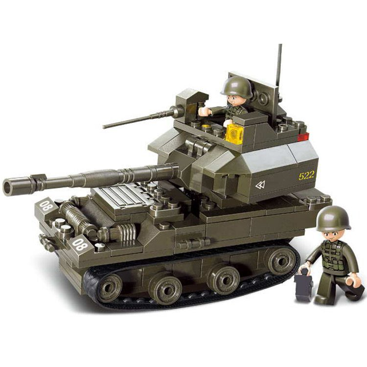 German Combat Tank Compatible Lego WW2 Tank