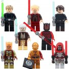Star Wars Sets Sith Warrior Darth Maul C3PO Lego Minifigure Compatible Toy
