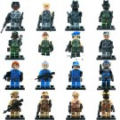 Soldiers Sets Anti-terrorism leader Lego minifigure Compatible Toy