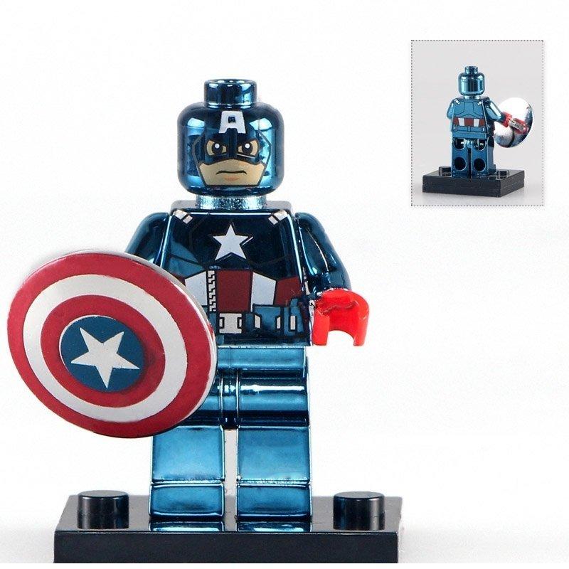 America Captain minifigure Lego Compatible Toys Custom Superhero