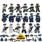 Military Land soldiers with 300 weapons Lego minifigure Compatible toy