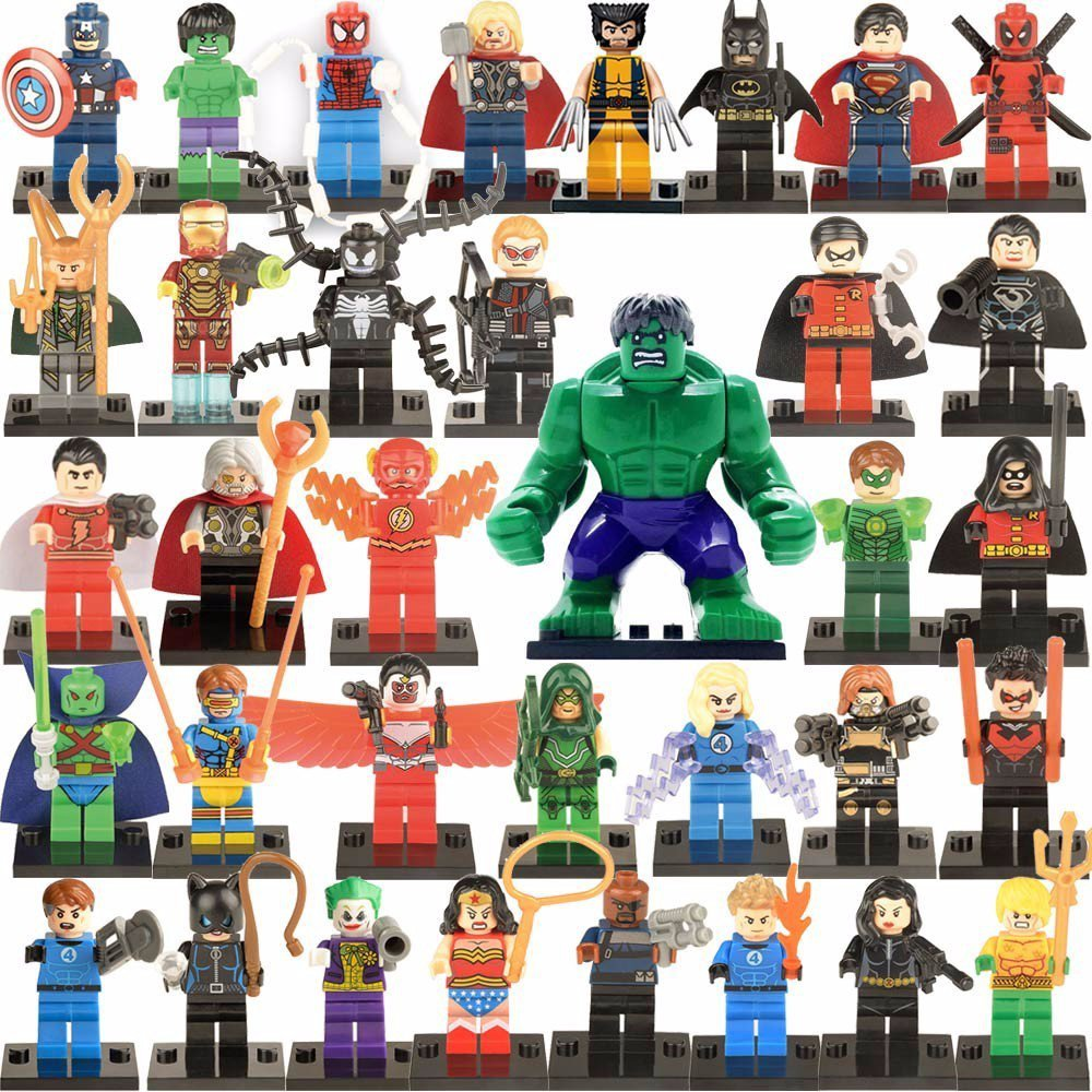 Marvel Super Heroes Avengers Minifigures Lego Compatible Toy