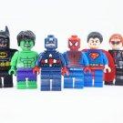 Super Heroes Set Wolverine Batman Minifigures Lego Compatible toys