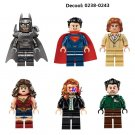 DC Justice League Super Heroes Batman Wonder Woman Lego Minifigures Compatible Toys