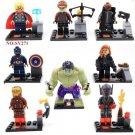 Avengers 2 minifigures Captain America Thor Iron Man Hulk Lego Compatible Toys