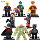 Hulk Black Panther minifigures Lego Compatible Toy Superhero sets