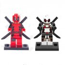 Deadpool set Red White Deadpool Collection minifigures Lego Compatible Toys